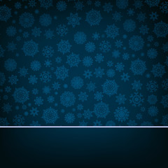 Blue christmas card Pattern on blue. EPS 8