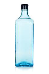 Glass gin bottle