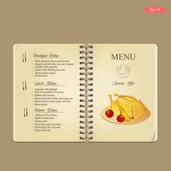 Nice menu for your internet restaurant