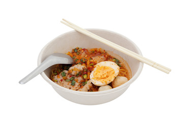Spicy egg noodle