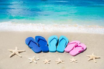 Flip flops and starfishes