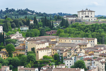 Fototapete - Hill Village in Tuscany, Itlay