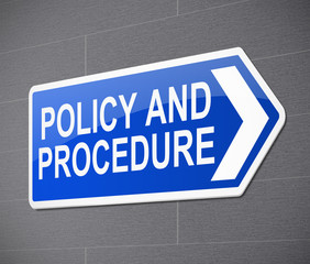 Policy and procedure concept.