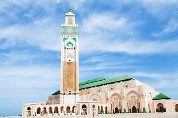 Foto op Canvas Marokko Moschea Hassan II