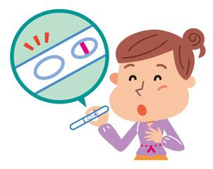妊娠検査薬を使う女性 避妊