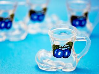 Set of dram glass