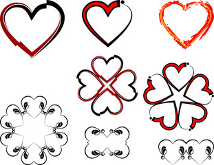 Love Heart Tribal tattoo Design