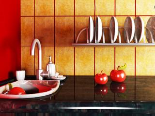 fragment of the kitchen interior