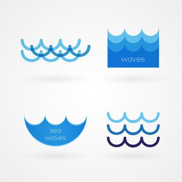 Set: sea waves icons