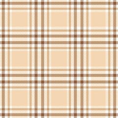 Beige plaid tartan seamless pattern background