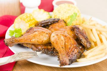 Piri Piri Chicken - Spatchcocked poussin with piri piri sauce