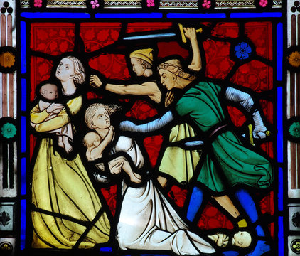 Massacre of the innocents in stained glass