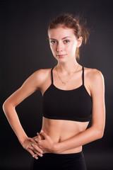 portrait of a pretty sporty girl
