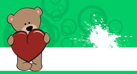 teddy bear cartoon love wallpaper vector