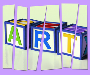 Art Letters Show Inspiration Creativity And Originality