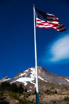 Flag at Mount Hood