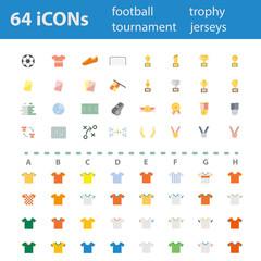 64 Quality design modern vector illustration icons set