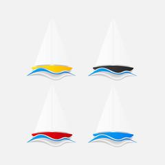 realistic design element: sailboat