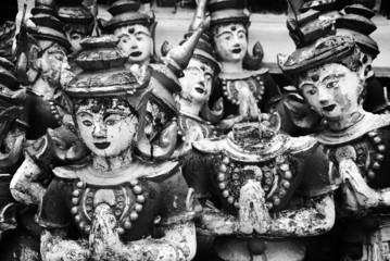 Broken Buddha images