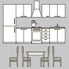 kitchen furniture icons 2