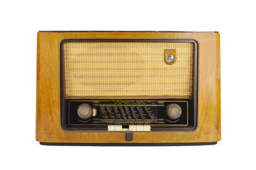 Front of an old retro radio