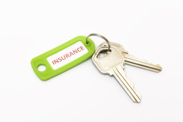 Isolated keys with Insurance tag.