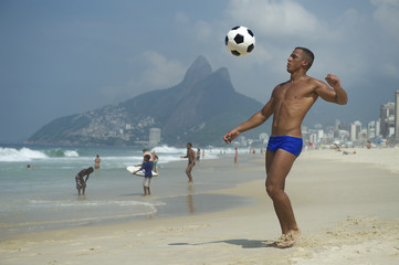 Brazilian Altinho Athletic Young Brazilian Man Beach Football