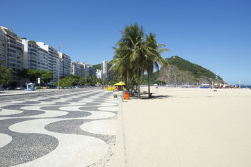 Copacabana Beach Skyline Boardwalk Rio de Janeiro Brazil