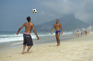 Brazilians Playing Altinho Beach Football Rio de Janeiro Brazil
