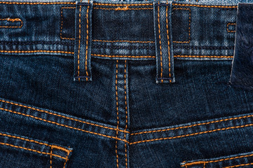 Jeans texture - detail stitching and rear slots