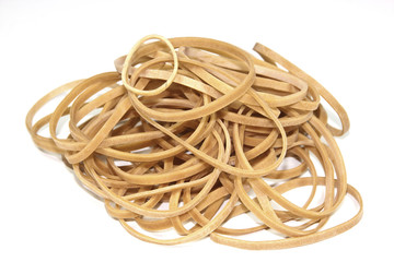 Isolated Collection of Elastic Bands Stacked in a Heap