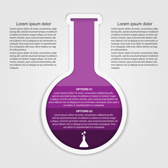 Chemical and science infographic design concept.
