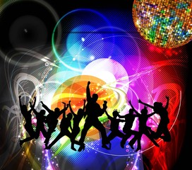 Dancing people. Vector