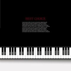 Vector modern piano background.