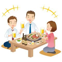 仕事仲間と飲み会