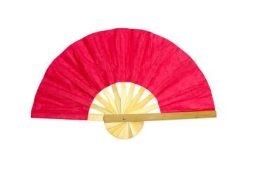 Wooden red fan