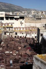 Keuken foto achterwand Marokko Tannery of Fez, Morocco