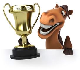 Papier Peint - Horse and trophy