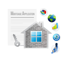 mortgage application concept book