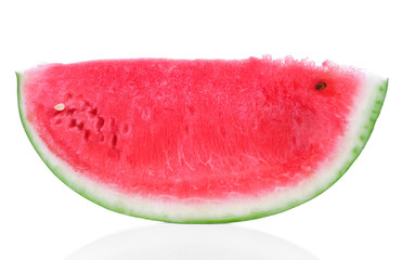 Fresh sliced watermelon isolated on white background