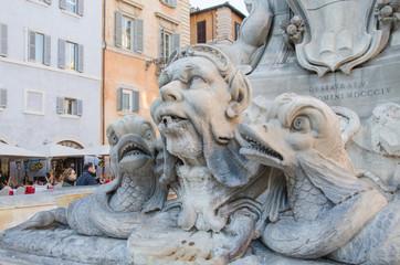 Sculptural detail in the Piazza della Rotonda