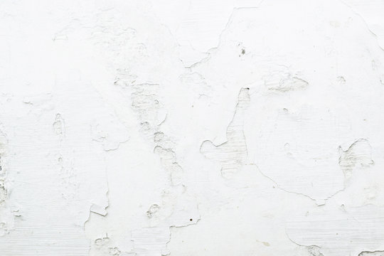 old dirty painted white wall