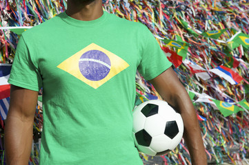 Brazilian Soccer Football Player Salvador Wish Ribbons