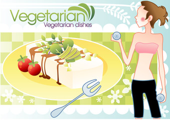 Illustration of vegetarian