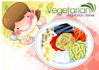 Illustration of vegetarian