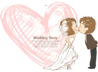 Illustration of wedding
