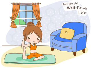 Illustration of wellness