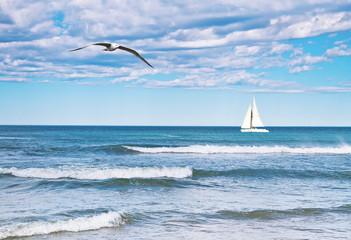 paisaje de una velero en el mar