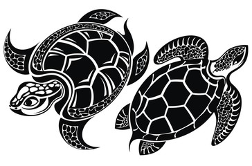 Turtle. Tattoo design