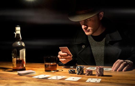 Partie de poker western